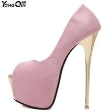 New Women Shoes Sexy Platform Fashion 16CM High Heels Party Black Dress   Brand Designer Shoes Women Pumps 3colors size35-40