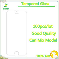 100pcs/lot Tempered Glass Screen Protector Front Film Front Glass Protective Film For Samsung S3 S4 S5 For iphone 6 6S 7 X XS
