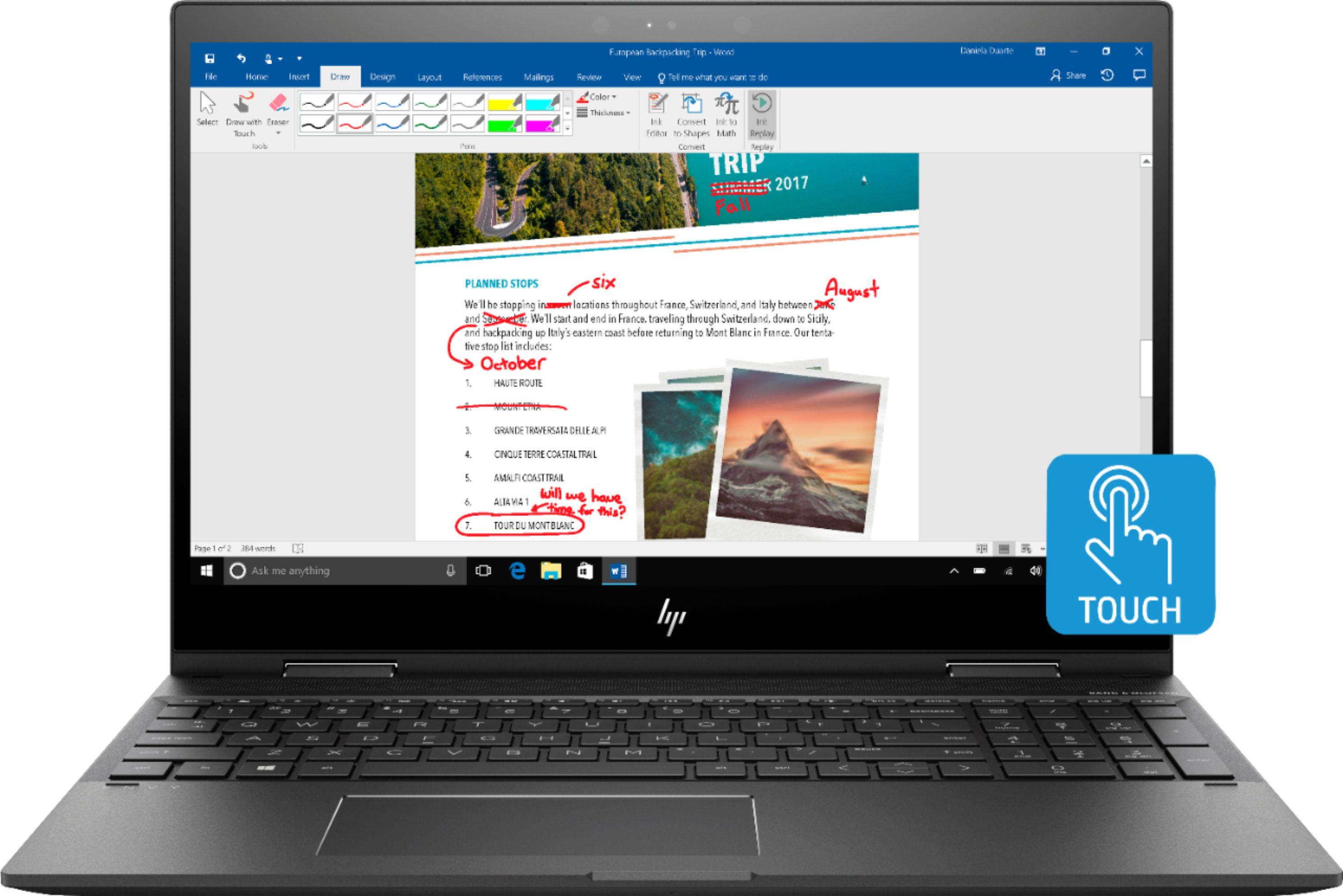 Hp Envy 2 In 1 15 6 Layar Sentuh Laptop Amd Ryzen 7 8 Gb Memori Amd Radeon Rx Vega 10 256 Gb Ssd B O Quad Speaker Gaming Laptop Aliexpress