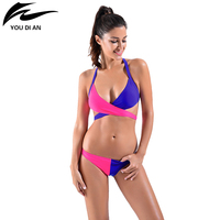 Bikini 2016 Sexy Bikinis Swimwear Women Swimsuit Low Waisted Bathing Suit High Quality Two Color Crossed