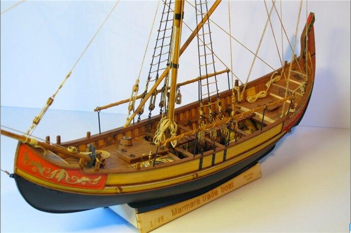 Zhl Wooden Model Ship Kits Marmara Trade Boat Ks13 In Model