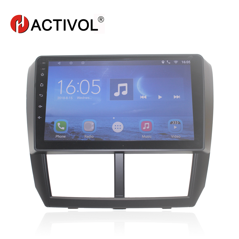 HACTIVOL 9 Quad core car dvd gps navi for Subaru Forester Impreza 2008 2012 android 7