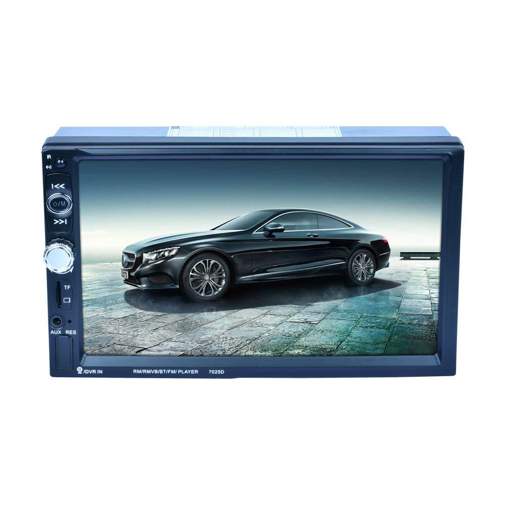7 Inch 2Din HD Car Radio MP5 Player Digital Touch Screen Bluetooth Handsfree USB/TF/FM DVR/Aux Input Support Car Charge