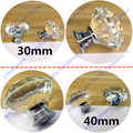 30mm/40mm Furniture Crystal Drawer Pulls and Knobs for Ccabinet Kitchen Crystal handle Furniture handle knob
