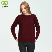GOPLUS 2017 Autumn Winter Warm Knitting Women Sweater Long Sleeves O Neck Jumper Loose Basic Pullover