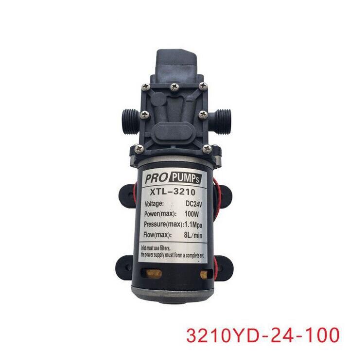 12V24V100W pressostat automatique haute pression diaphragme auto-amorçage mini pompe à eau électrique 3210YD-24-100
