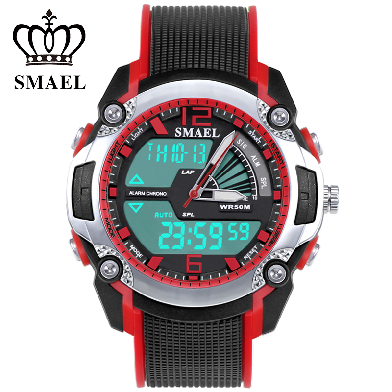 Luminous-Watch Digital Waterproof Men/studentes for Relogio Masculino Men's SENORS Double-Display-Movement