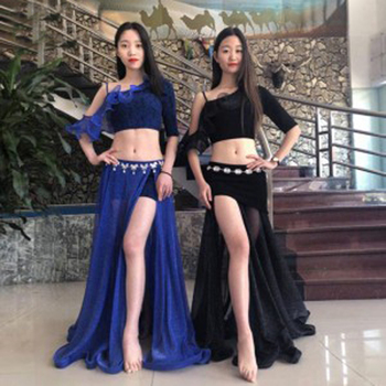 Hot-Sale Sexy Women Oriental Dancing Costumes Popular Bellydance Practice Clothes 2 Pieces Set Dresses for Stage Show M/L Size