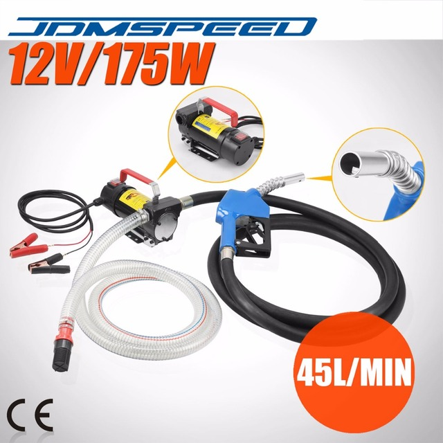 JDMSPEED Shipping-Electric Fuel Transfer Pump 12V DC Diesel Kerosene Oil Commercial