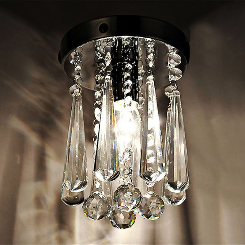 Ceiling light LED Lights k9 Crystal Modern Hanging Round Bread Design Bedroom Dining room Restaurant Foyer Small Size
