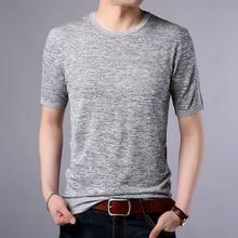 T-Shirts Harajuku Men T shirt O Neck knitted Short Sleeves Breathable Tshirt Brand Clothes Summer Tops Tees Shirt