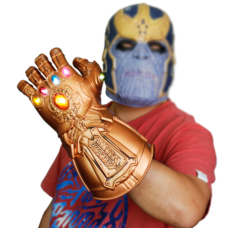 LED Thanos Infinity Gauntlet Adult Toys Christmas Gift Infinity War Gloves Cosplay Thanos Glove Men Halloween Party Props