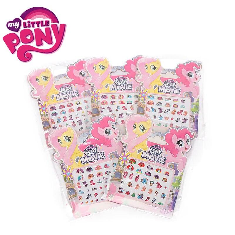 Little-Pony-Toys Stickers Pack Twilight Sparkle Rainbow-Dash Pinkie Pie Girl Children
