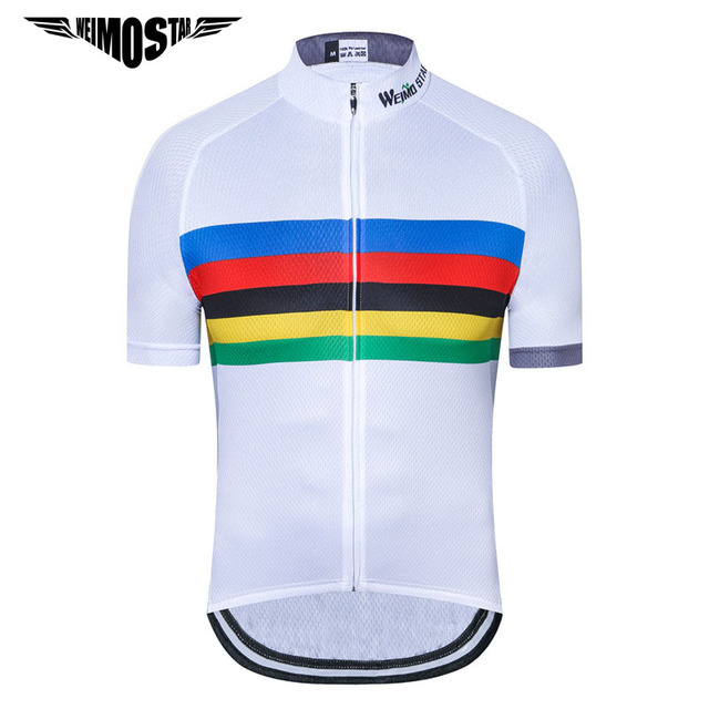 499f6cdd1 Weimostar White Cycling Jersey 2018 Pro Team Cycling Clothing Mountain  Bicycle Clothes Ropa Ciclismo Racing MTB Bike Jersey Top