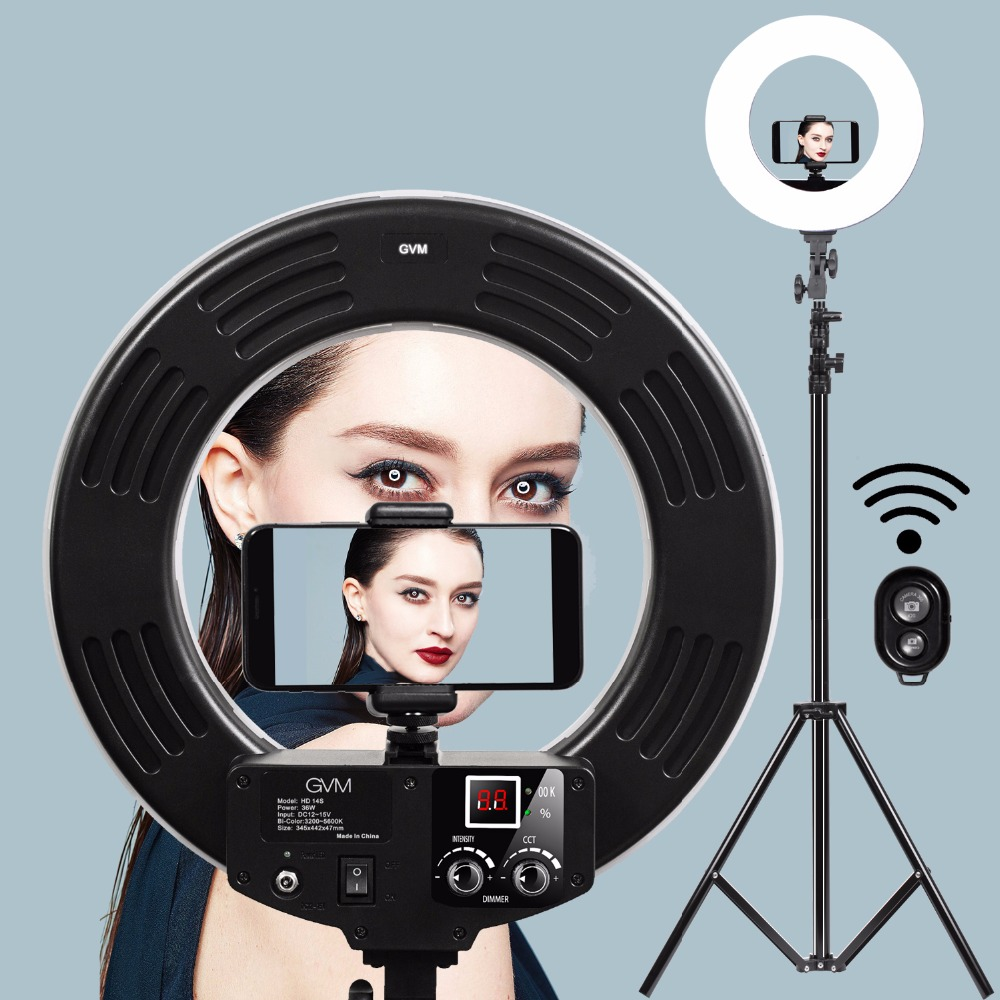 Makeup Ring And Lights: Aliexpress.com : Buy GVM Dimmable Diva LED Ring Light