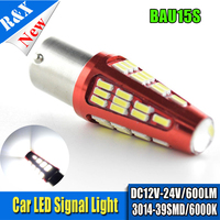 4pcs/lot BAU15S PY21W offset pins led 39smd 3014 chips Car Tail Bulb Brake Lights auto Reverse Lamp Daytime Running Light white