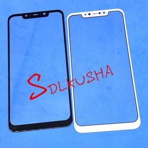 Image 1 - 10 Pcs מול מסך חיצוני זכוכית עדשת החלפת מסך מגע עבור Xiaomi Pocophone F1 Poco F1