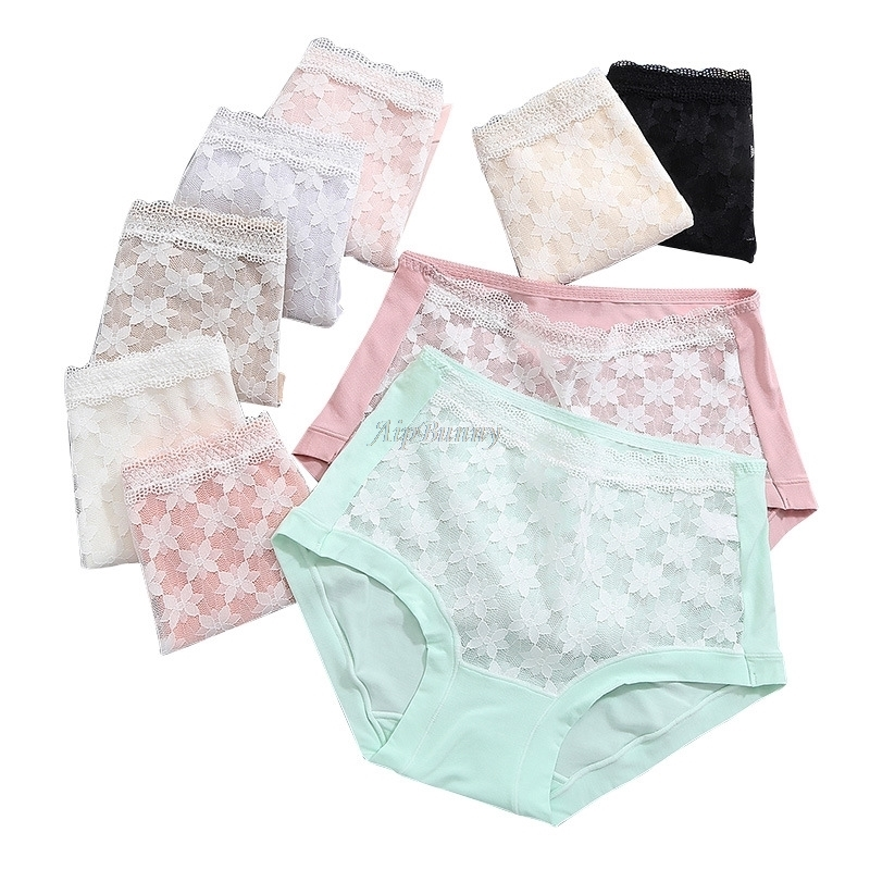 Out Panties Knickers Hollow Briefs Flower sexy Women's Lingerie  Mesh female Girl lady Underwear