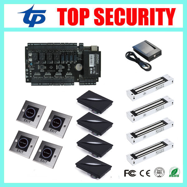 High security good quality free shipping zk smart card access control system with TCP/IP communication free software and SDK