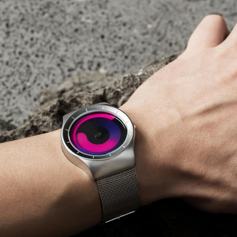 Finda Brand New 2018 Kreatywne Obrót Mężczyźni Zegarki Pasek - Męskie zegarki - Zdjęcie 5