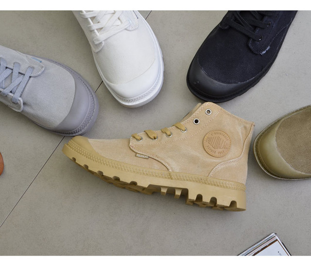 High Top Quality Canvas Men Boots Lace Up Male Canvas Shoe Ankle Botas Cowboy Motorcycle Boots Fashion Military Desert