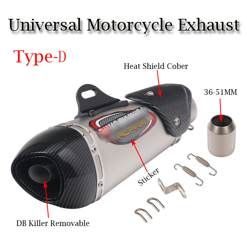 Universal Motorcycle Yoshimura Exhaust Pipe Escape Modified Carbon Muffler DB Killer Silencer For Ninja 400 GSXR600 K6 KTM R15 in Exhaust Exhaust Systems from Automobiles Motorcycles
