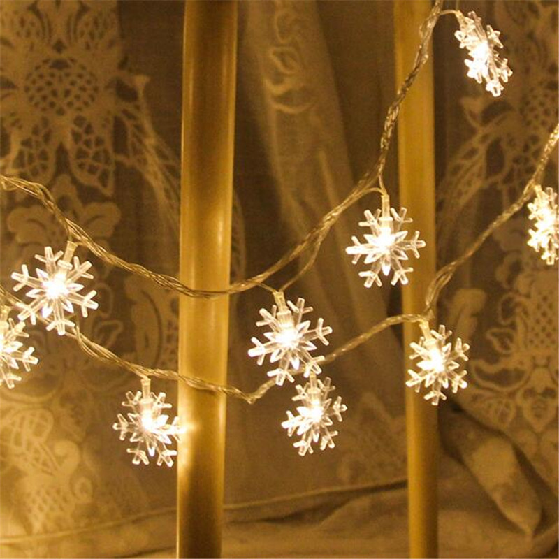 20 LED Snowflake Fairy String Light Birthday Lighting Strings Room Decor Romantic Wedding Decoration Event Happy New Year Gift