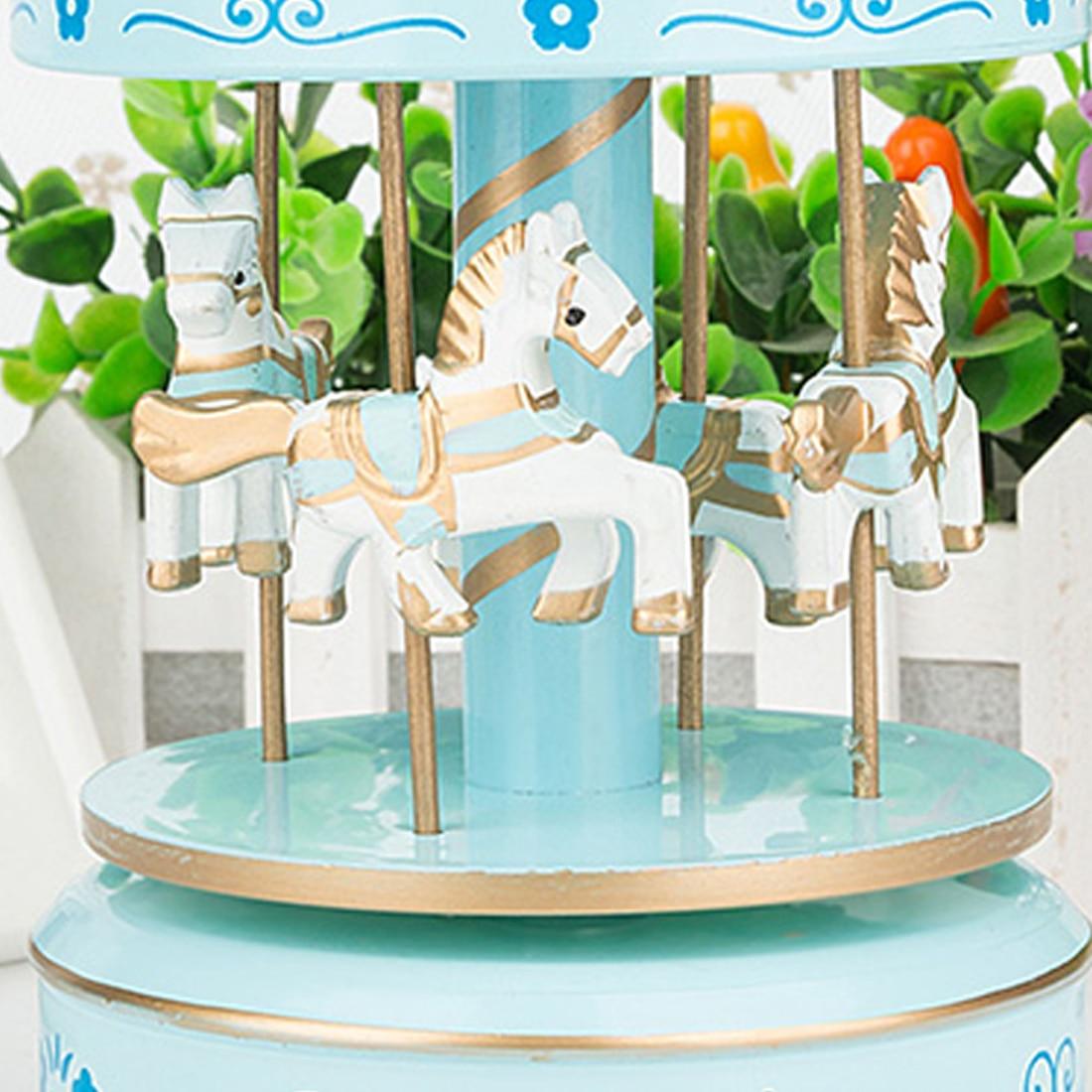 Карусель музыкальная карусель лошадь деревянная карусель музыкальная шкатулка игрушка ребенок игра домашнего декора Рождества Свадебные ...