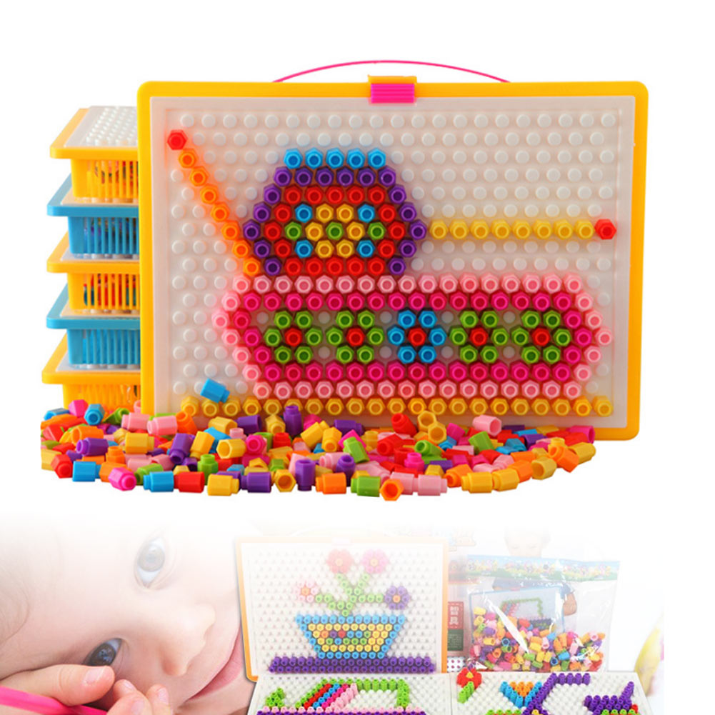 Aliexpress.com : Buy Mosaic Puzzle Pegboard with Carring ...