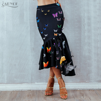 Adyce 2018 New Summer Women Skirts Elegant High Waist Ruffles Butterfly Casual Mid Calf Celebrity Prom Bodycon Party Skirts