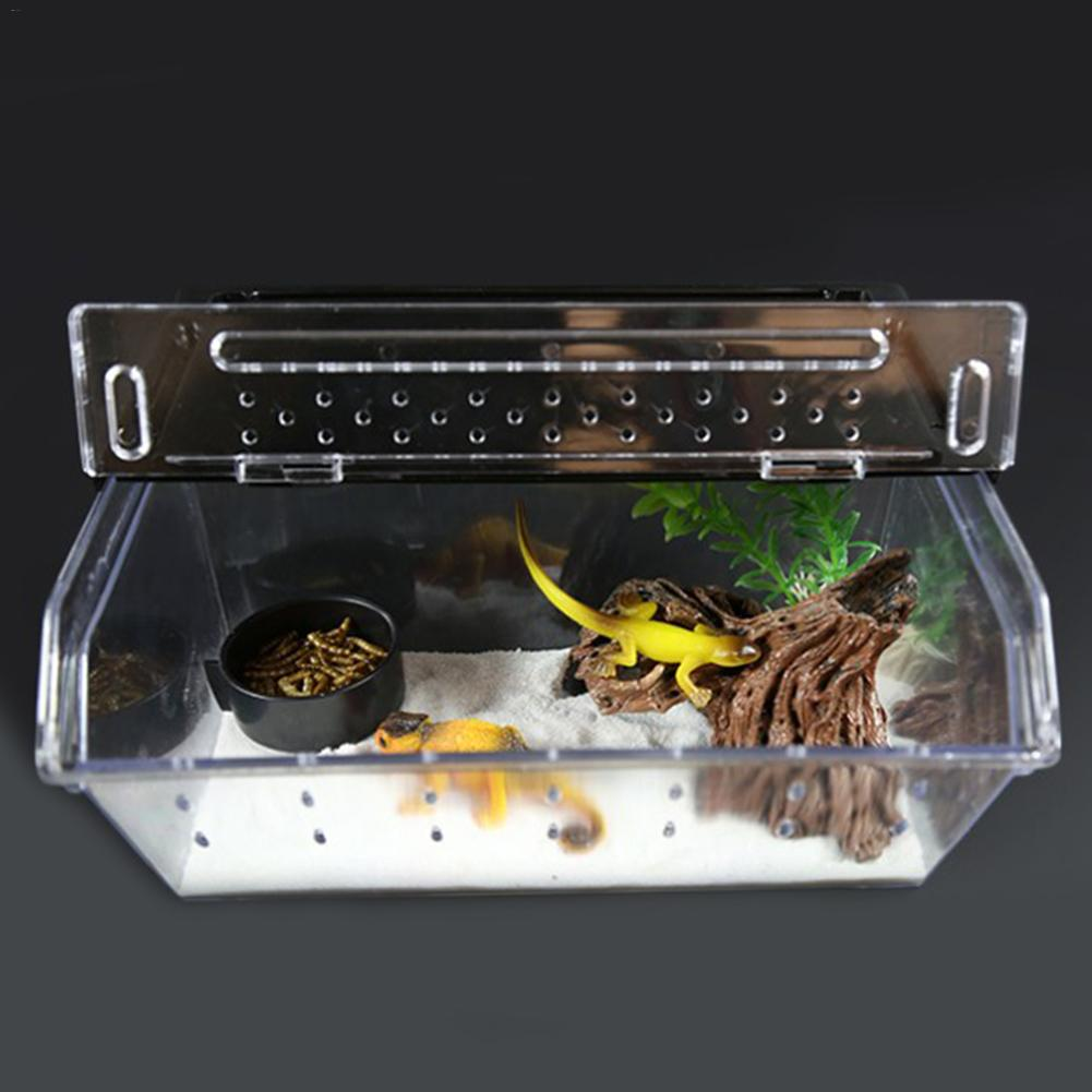 Top Selling Reptile Box Reptile Terrarium Durable Transparent Acrylic Breeding Animals Insect Live Food Feeding Box in Terrariums from Home Garden
