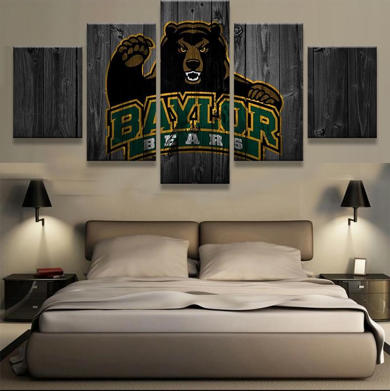 5 Pieces Baylor Bears Sports Modern Home Wall Decor Painting Rhaliexpress: Baylor Home Decor At Home Improvement Advice