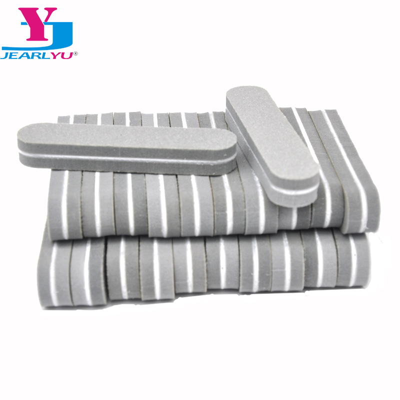 100pcs Minil Nails Files Spone Nagelvijil Nails Professiona Accessories Buffers Gray Sandpaper 180/240 Polish Salon Tools