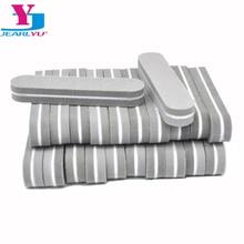 100pcs Minil Nails Files Spone Nagelvijil Nails Professiona Accessories Buffers Gray Sandpaper 180/240 Polish Salon Tools