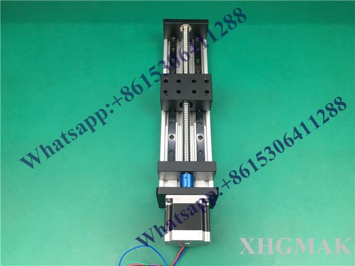 High Precision GX80*50mm Ballscrew 1605-1300mm Effective Travel+Nema 23 Stepper Motor Stage Linear Motion single block su gx 5s r