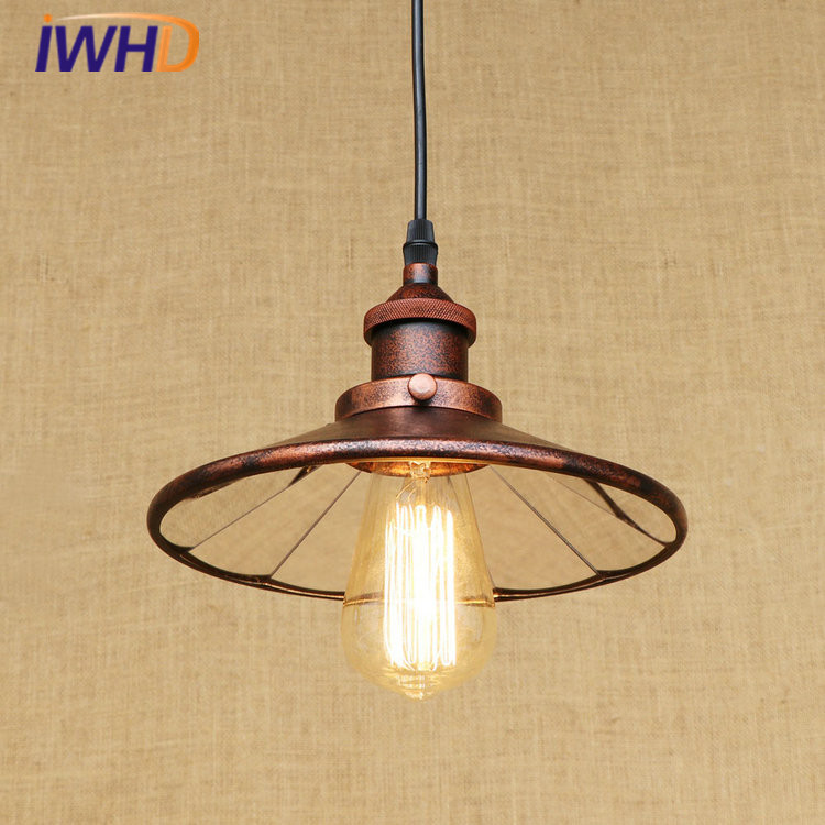 Lustre Lens LED Pendant Lights Loft Vintage Industrial Pendant Lamp Fixtures For Home Lightings Hanging Lamp Lamparas Colgantes america country led pendant light fixtures in style loft industrial lamp for bar balcony handlampen lamparas colgantes