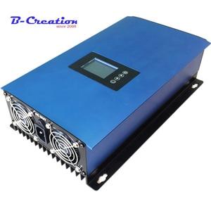 Inversor da grade da energia do vento 2000w com limitador/controlador de carga de descarga/resistor para 3 fase 48v gerador de turbina eólica