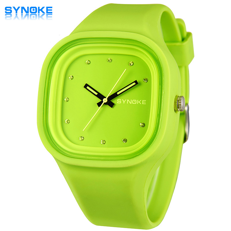 SYNOKE Fashion Quartz Watches Men Women Sport Wrist Watch Top Brand Famous Male Female Clock Silicone