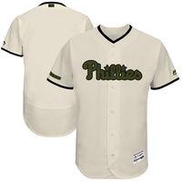 MLB Men's Philadelphia Phillies Baseball White 2017 Memorial Day Authentic Collection Flex Base Team Jersey