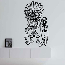 New arrival Strange Tribal Man Hawaii Surfer Wall Stickers Home Decor Living Room Removable Vinyl Art Decals Creative