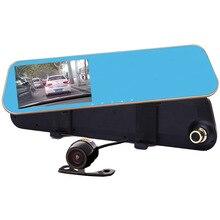 4.3″car dvr mirror full hd 1080p car camera parking dual lens rearview mirror dvr dash cam vehicle black box Registrator