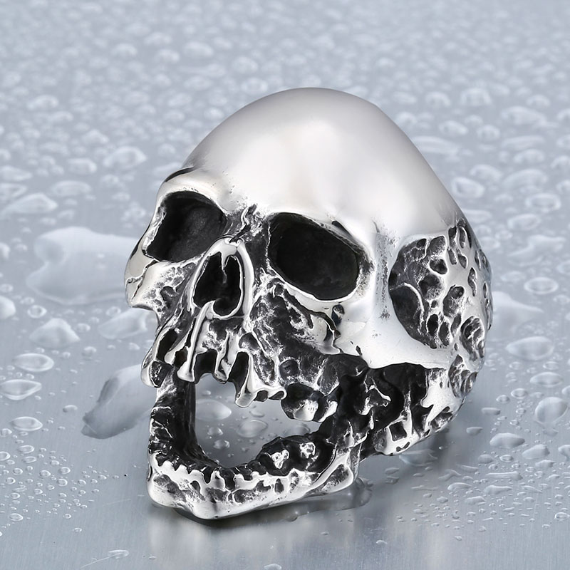 beier unique original style skull ring for man stainless steel punk mans high quality personality mens ring br8 382 - Mens Skull Wedding Rings