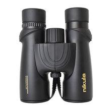 nikula 10x42 binoculars for Adults telescope HD optical glass Waterproof Lightweight Compact Prism FMC lens Bak4 black Original цена