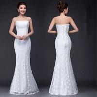 DM2670B 2017 Spring Summer New Fish Waist Slim Package Hip Tail Sexy Slim Bride Wedding Dress