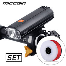 MICCGIN Bike Front Rear Light Set 4000mAH Powerbank 500LM LED Headlight Lantern For Bicycle Flashlight USB Rechargeable Lamp(China)
