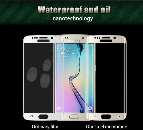 Untuk Samsung Galaxy S6 Tepi S7 S7 Tepi Kaca Tempered 3D Melengkung - Aksesori dan suku cadang ponsel - Foto 4