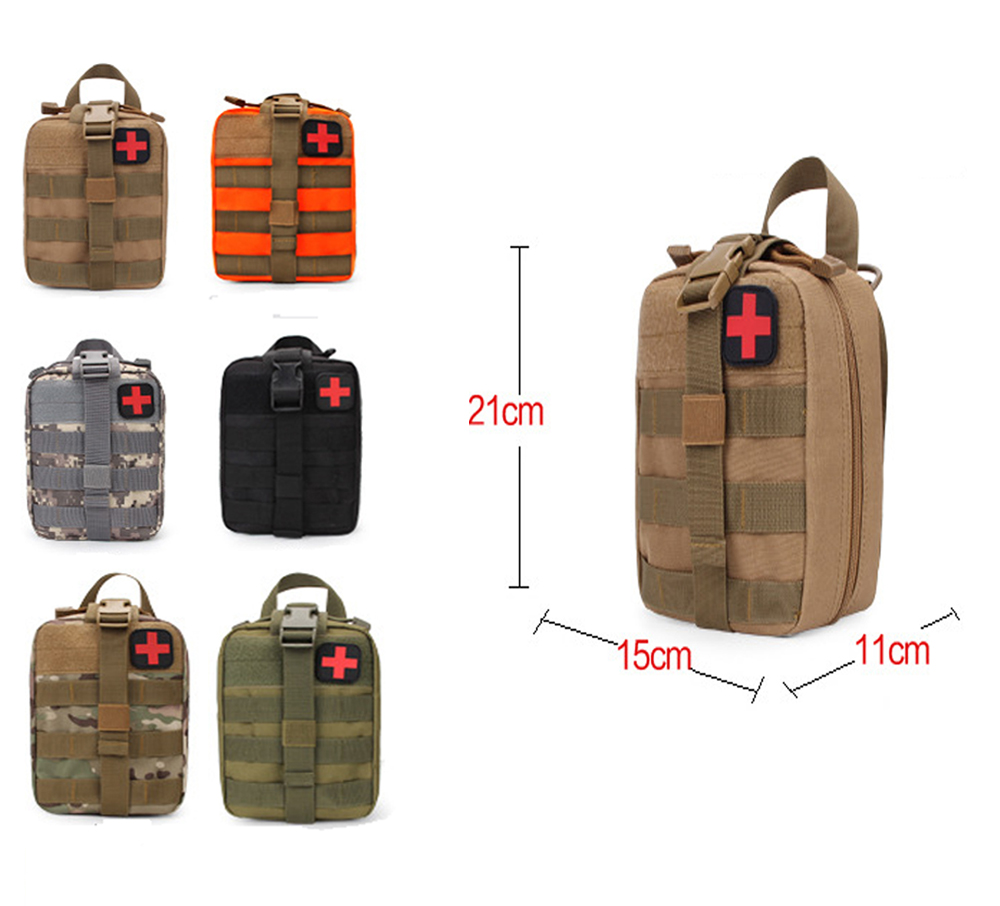 Tactical Medical First Aid Kit Bag Utility Emergency Military Package Medical Outdoor EDC Molle First Aid Kit for Travel Hunting first aid bag only molle medical emt cover outdoor emergency military program ifak package travel hunting utility pouch j2