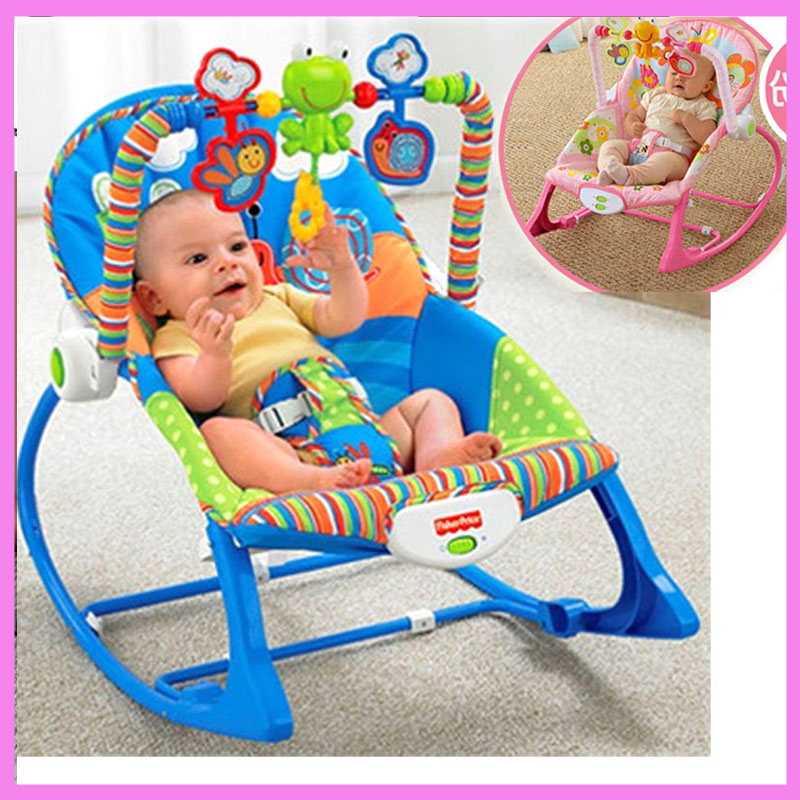 Electric Infant Baby Rocking Chair for Newborn Swing Cradle Bouncer Seat Lounge Recliner Toys Shelf Nursery Child Rocking Chair the baby rocking chair electric cradle chair deck chair