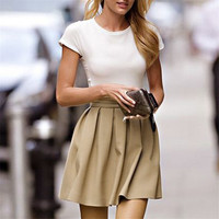 Lady Women's Fashion Sexy Pleated Short Skirt