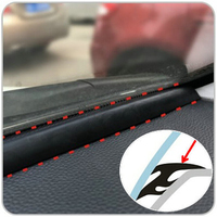 1.6m EDPM Rubber Noise Insulation Soundproof Anti-dust Sealing Strips Trim For Auto Car SUV MPV Dashboard Windshield Edges